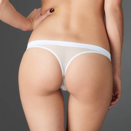 String Pure Tentation Blanc