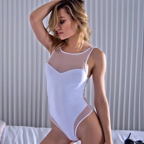 MAISON CLOSE Body string Pure Tentation Blanc
