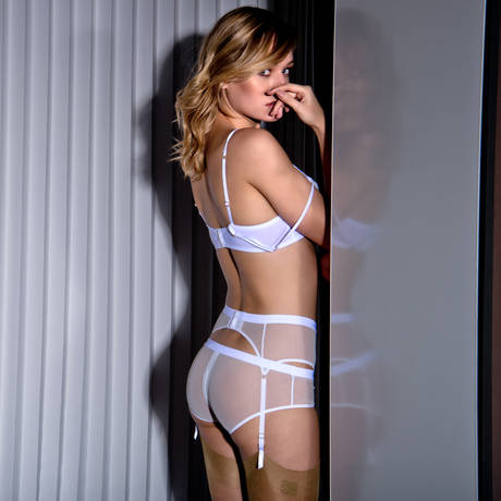 MAISON CLOSE Shorty zippé Pure Tentation Blanc