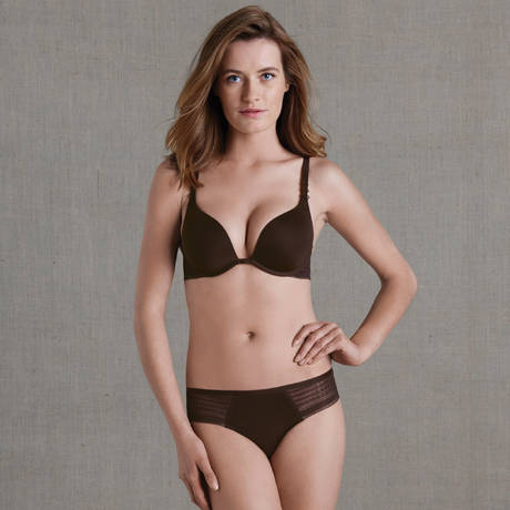Soutien-gorge push-up triangle Muse Cacao