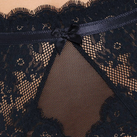 Culotte porte-jarretelles Carmella Noir