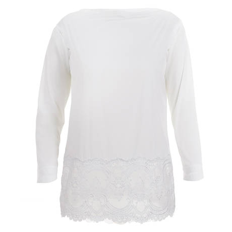 WACOAL Top manches longues Chrystalle Blanc