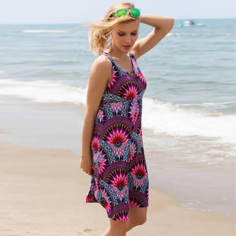 Robe de plage Show6 Fuchsia