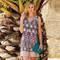 CANAT Robe de plage Canelle8 Print