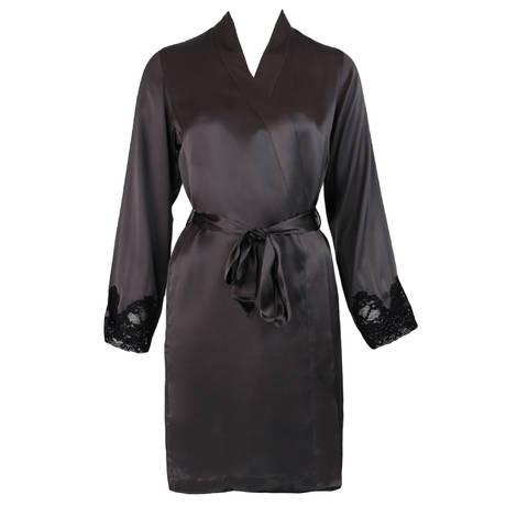 Déshabillé kimono Crépuscule Satiné Platine
