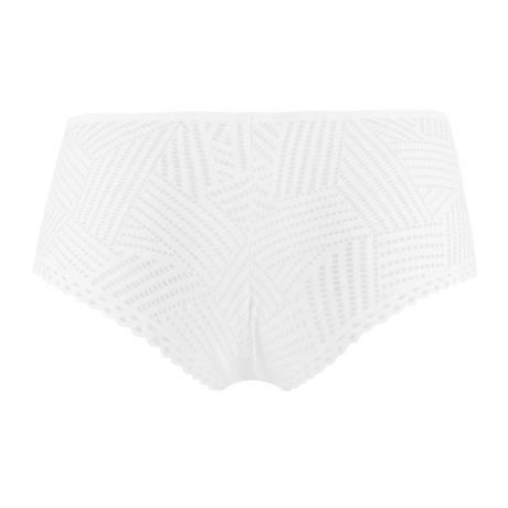 Shorty Tressage Graphic Tressage Blanc