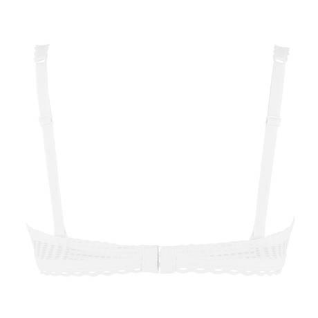 ANTIGEL Soutien-gorge bandeau coques Tressage Graphic Tressage Blanc