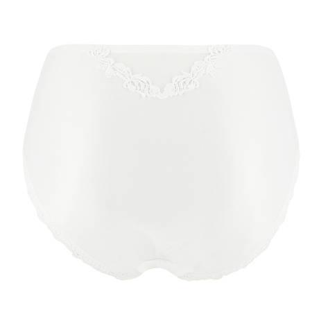 Culotte haute Ajourage Pétales Blanc