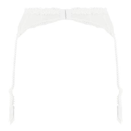 Porte-jarretelles Ajourage Pétales Blanc