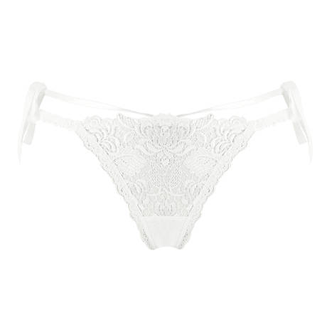 LISE CHARMEL String sexy Ajourage Pétales Blanc