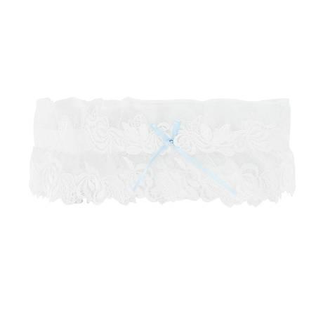 LISE CHARMEL Jarretière Ajourage Pétales Blanc