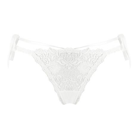 LISE CHARMEL String sexy Ajourage Pétales Blanc