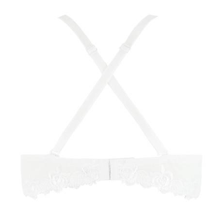LISE CHARMEL Soutien-gorge bandeau Ajourage Pétales Blanc