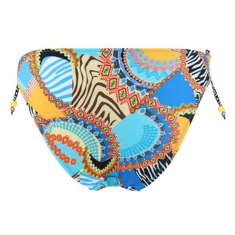 ANTIGEL Maillot de bain slip lacets La Bomba Africa Multicolore