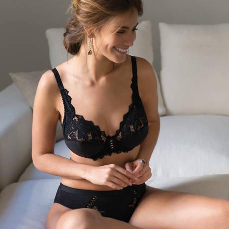 SANS COMPLEXE Culotte haute Coton d'Arum Noir