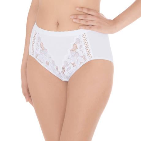 Culotte haute Coton d'Arum Blanc