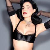 Soutien-gorge balconnet Dita Von Teese Sheer Witchery Satin