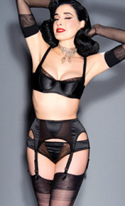 Dita Von Teese Sheer Witchery Satin Noir
