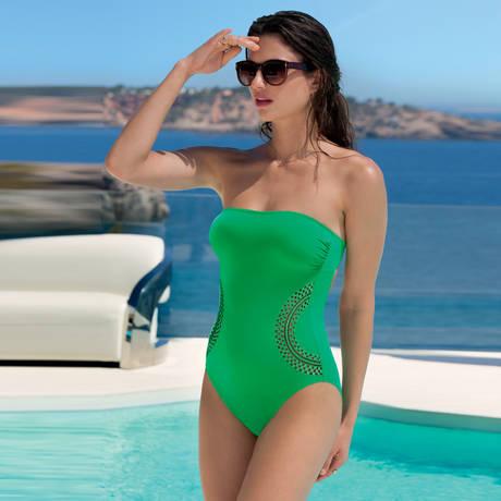 Maillot de bain 1 pièce nageur Saga Keniane Vert