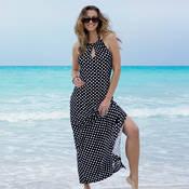 Robe de plage longue Antigel La Pois Féline