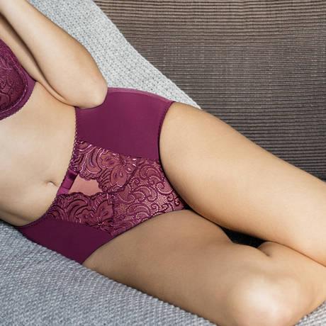 Culotte haute galbante Divine Violet Saphir