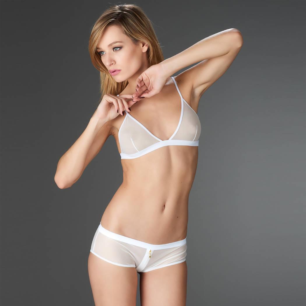 MAISON CLOSE Shorty zippé Pure Tentation Blanc