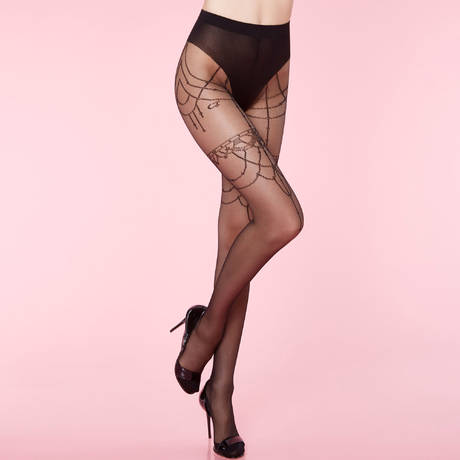 CHANTAL THOMASS Collant 20 deniers Queen Of The Night Les Bas et Collants Noir