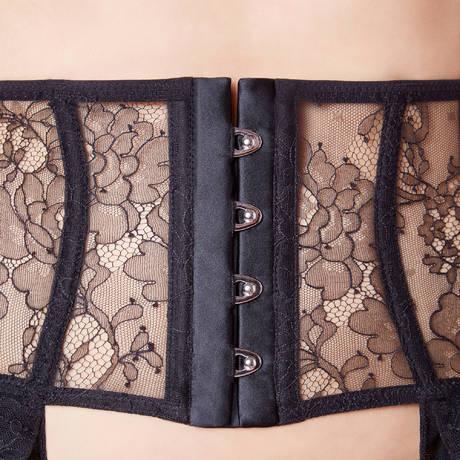 CHANTAL THOMASS Serre-taille Porte-jartelles Tentation Noir