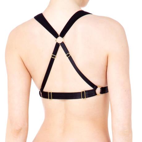 BORDELLE Soutien-gorge triangle sans armatures Asymmetric Noir