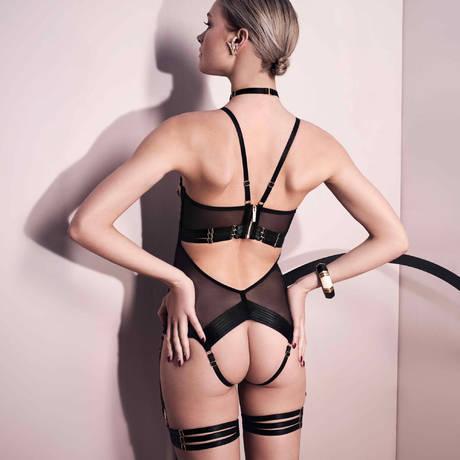 Body ouvert Art Deco Noir