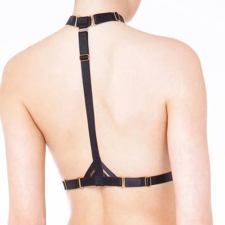 BORDELLE Harnais lingerie Art Deco Noir