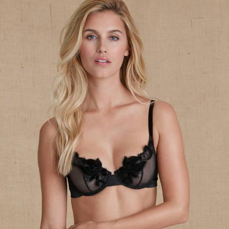 SIMONE PÉRÈLE Soutien-gorge corbeille Haute Couture Noir