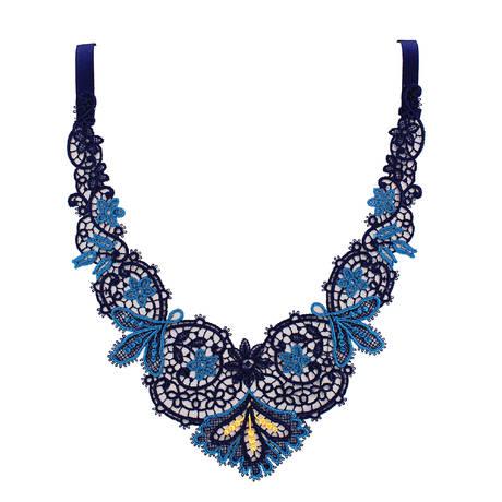 LISE CHARMEL Collier Secret Turquoise Bleu Marine