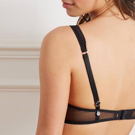BARBARA Soutien-gorge push-up foulard Beauté Sauvage Noir