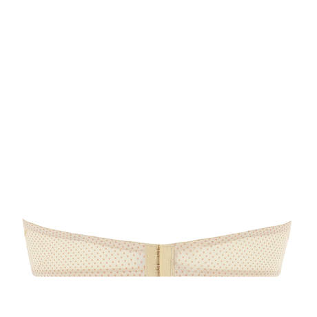 Soutien-gorge bandeau coques Drapé Délice Pois Blush