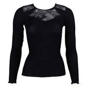T-shirt manches longues en laine et soie Lise Charmel Dentelle Design