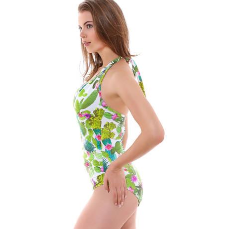 FREYA Maillot de bain 1 pièce Cactus Lime Fizz