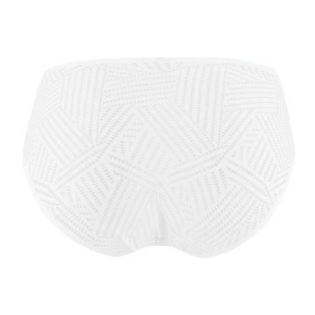 Slip Tressage Graphic Tressage Blanc