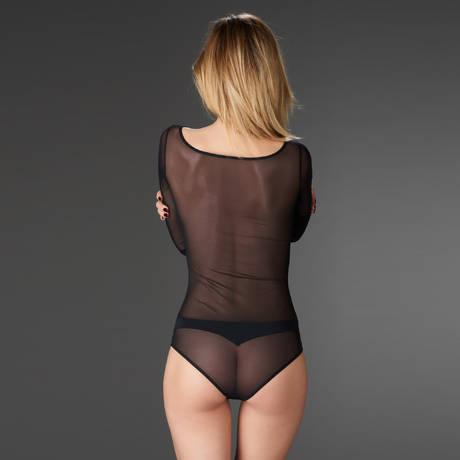 MAISON CLOSE Body culotte manches longues Pure Tentation Noir