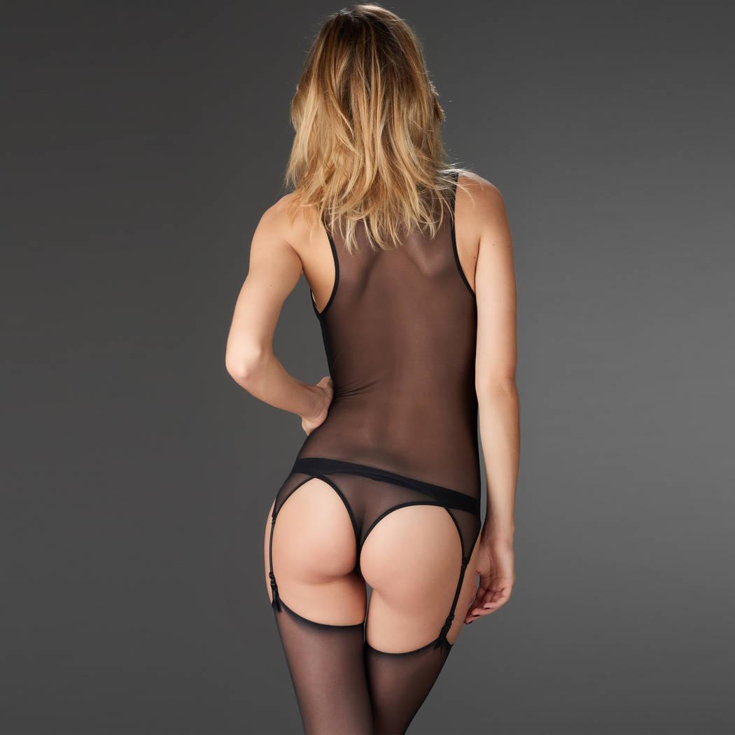 MAISON CLOSE Guêpière porte-jarretelles Pure Tentation Noir