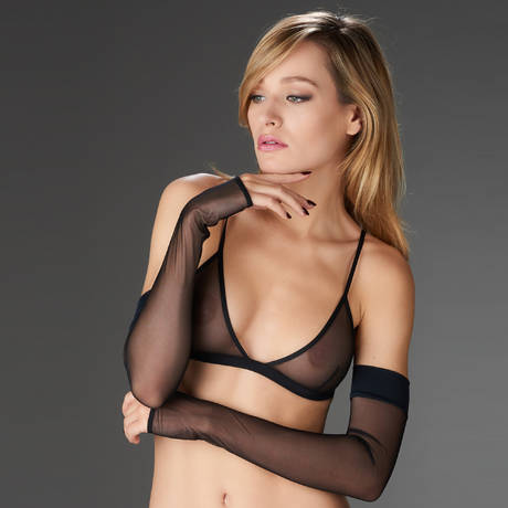 MAISON CLOSE Mitaines Pure Tentation Noir