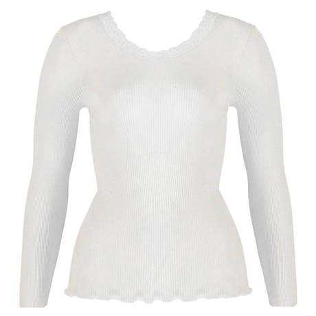 OSCALITO Top manches longues en laine et soie Blanc cassé