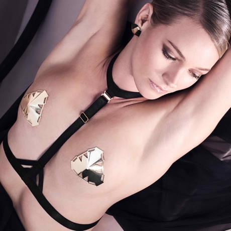 Harnais lingerie Art Deco Noir