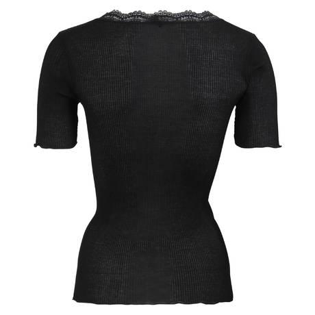 OSCALITO Top en coton fil d'écosse Noir