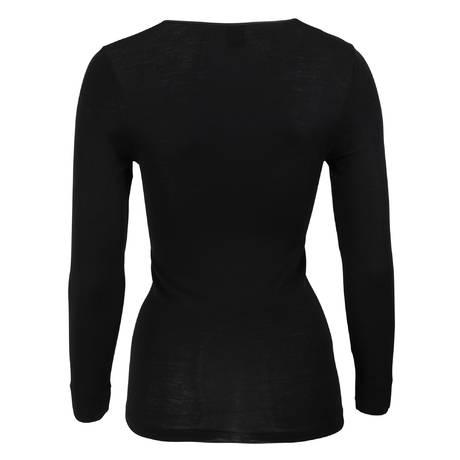 OSCALITO Top manches longues en laine mérinos et soie-500 Noir
