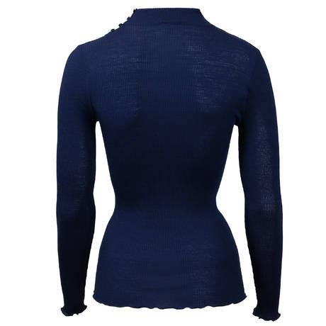OSCALITO Top en laine et soie Bleu Marine