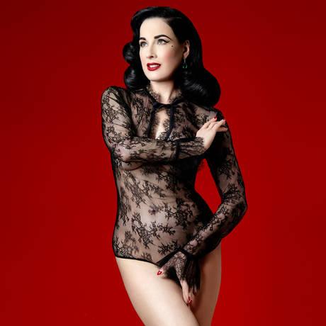 DITA VON TEESE Body Miss West Loungewear Noir