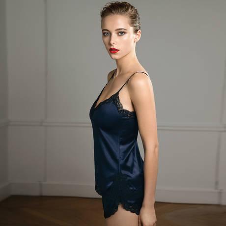 VANNINA VESPERINI Short Les Intemporels Bleu Nuit