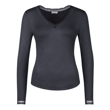 Top manches longues Daisy Charbon