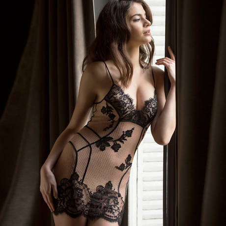 MARJOLAINE Nuisette Dénudée Nude/Noir